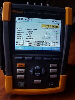 Fluke 435 - II, 3 Phase Power Quality and Energy Analyzer. USED