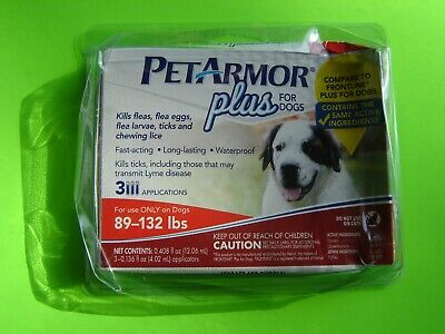 PetArmor Plus 4 Dogs, Flea and Tick Prevention for Extra Large Dogs 89-132 3 mon