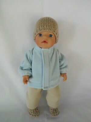 "Handmade dolls clothes (Five piece Winter set) fit 33cm ""Little Baby Born"" doll"