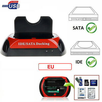 "DOCKING STATION Per HARD DISK ALL IN 1 SATA IDE 3,5"" 2,5 LETTORE HDD BOX Ew"