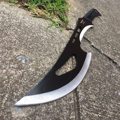 TACTICAL SURVIVAL Fixed Blade BLACK MACHETE Hunting Sword Full Tang Knife i