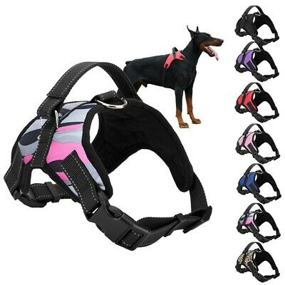 Dog Vest Harness Adjustable No Pull Leash Collar Set Handle Large Medium Small
