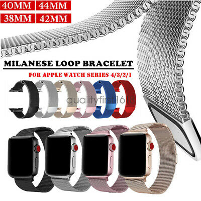 Milanese Stainless Steel Watch Band Strap For Apple Watch Series 5 4 3 44mm 42mm