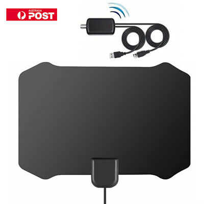 Digital HDTV TV Antenna+ Aerial Amplified 200 Mile Range VHF UHF Freeview HOT