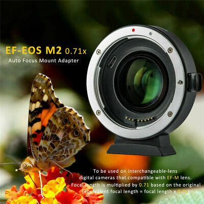 Viltrox EF-EOS MII Lens Adapter 0.71x Booster for Canon EF Lens to EOS-M2 Camera