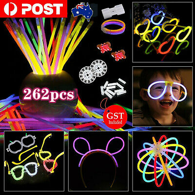 Glow Sticks Connecter Bundle Pack Party Christmas Birthday Glow in the dark
