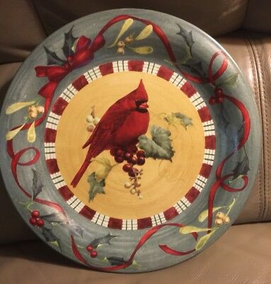 """Lenox Winter Greetings Everyday """"Cardinal"""" Dinner Plate - Discontinued!"""
