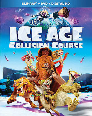 Ice Age: Collision Course (Blu-ray + DVD, Digital HD, 2016) with slipcover NEW
