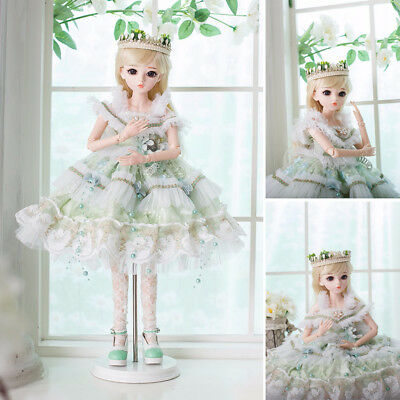 1/3 FULL SET BJD Doll Lovely Princess Girl 18 Ball Joints Resin Female Xmas Gift