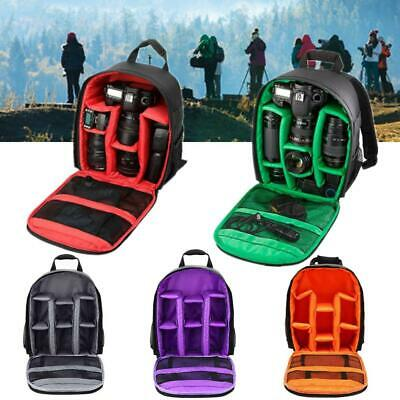 Travel Waterproof DSLR SLR Camera Bag Backpack Rucksack For Canon Nikon Sony UK