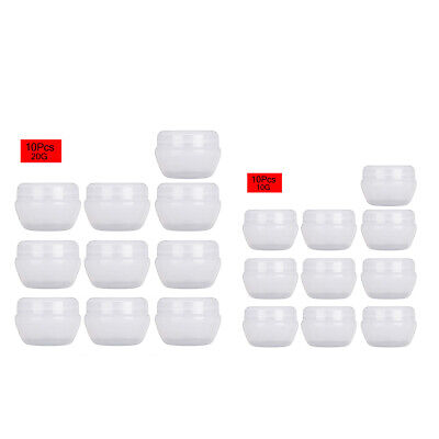 10Pc Empty Plastic Refillable Cosmetic Bottle Jars Pot Containers with Inner Lid