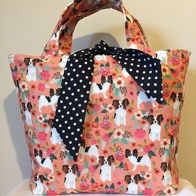 Papillon Dog Print Bag