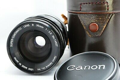 【 Exc+++++ 】 Canon Super Canomatic Lens R 35mm f2.5 from Japan 483
