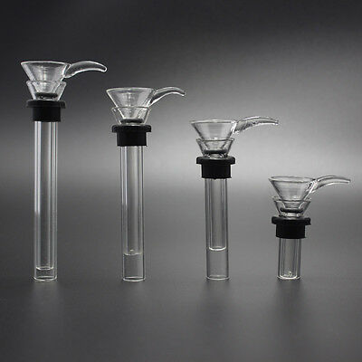 Various length Glass Downstem Slider Set With Gaskets & O-Rings 1.1-6.0 inch