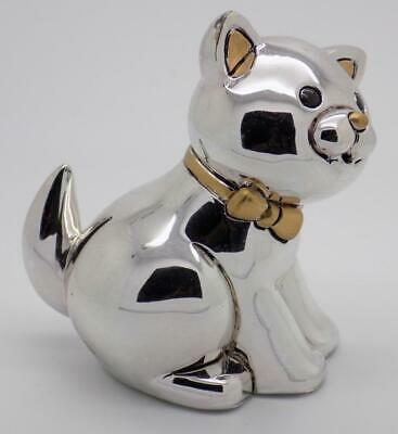 Vintage Sterling Silver 925 Plated Italian Made Large Kitten Cat Figurine
