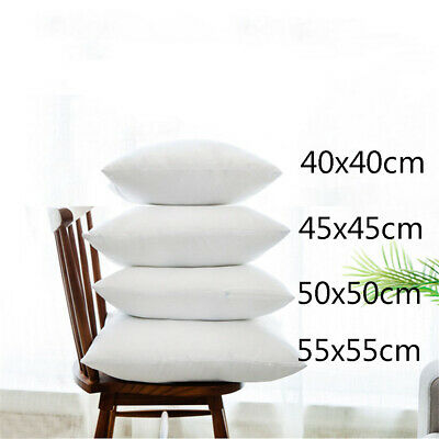 Bed Cushion Inserts Pads Sofa Pillow Core Inner Seat Cushion Filling Pillowcase