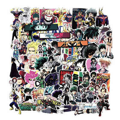 70pcs Anime My Hero Academia Character PVC Adhesive Stickers For Laptop Luggage