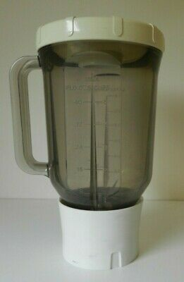 Vintage Kenwood Chef Liquidiser Blender Smoked Plastic Body Food Processor A901A