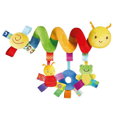 Infant Baby Kids Rainbow Insect Stroller Bed Spiral Hanging Toys Rattle Sound