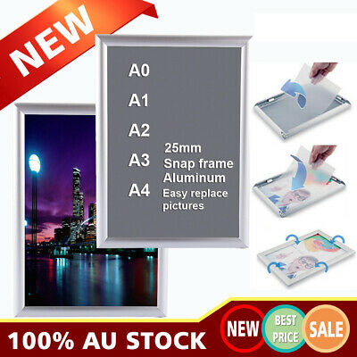 A0 A1 A3 A4 Aluminium Clip Frame Board Poster Indoor Outdoor Display Wall Mount