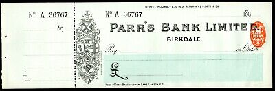 2 x Parr's Bank Ltd, Birkdale 1897, Southport 1913 top class local history item