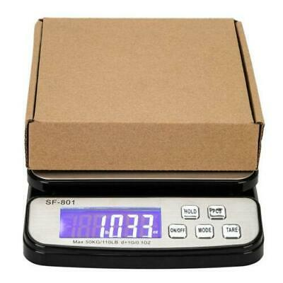 110 LB x 0.1 OZ Digital Shipping Postal Scale with Adapter and 3x AAA Battery