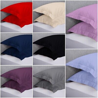 Luxury 200 thread count 100% Cotton 2 x Oxford Pillow Cases Covers