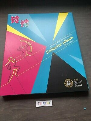LONDON 2012 OLYMPIC GAMES ROYAL MINT 50p SPORTS COLLECTOR ALBUM NEAR MINT - MON