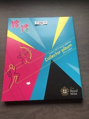 LONDON 2012 OLYMPIC GAMES ROYAL MINT 50p SPORTS COLLECTOR ALBUM NEAR MINT - TUE.