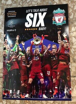 Liverpool FC Champions of Europe 2019 Special Souvenir magazine Lets talk about6