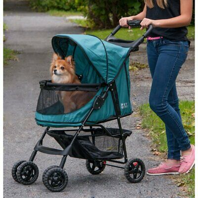 Pet Gear No-Zip Dog Cat Stroller Pram Buggy Pushchair - Emerald Green