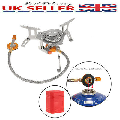 Portable Outdoor Stove Compact Camping Hiking Fishing Gas Heater Cooker