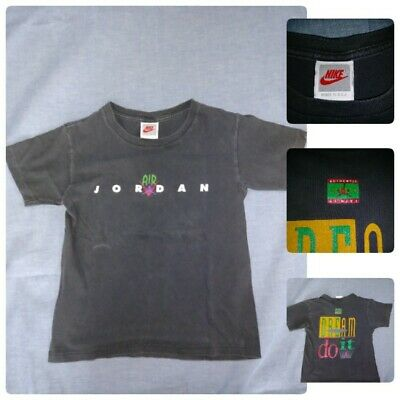 Vtg Air Jordan Jumpman Nike Dream It Do It 1990S T-Shirt Young Boys Sz Small Usa