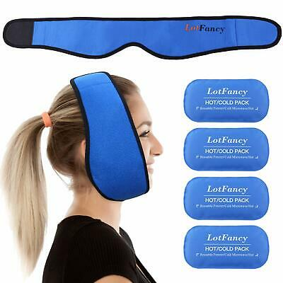 Reusable Hot/Cold Gel-Pack w Stretch Wrap Pain Relief for Face TMJ Chin Jaw Oral