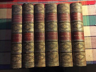 6 Volumes by George Eliot, 1870s?, including Middlemarch, Mill on the Floss etc
