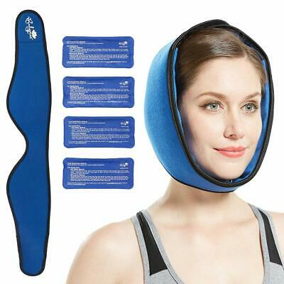 Face Ice Pack Strap Jaw Head Chin Adjustable Hot/Cold Wrap TMJ Pain Relief Helps