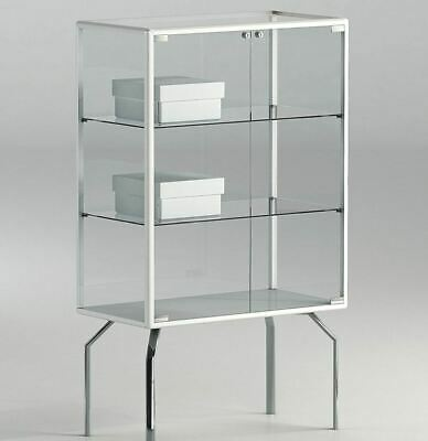 Glass Lockable Retail/Jewellery/Museum Display Counter Case Unit UK 45 x 120h cm