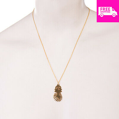 RRP €170 SABRINA DEHOFF 8K Gold Chain Necklace 23K Gold Plated Pendant