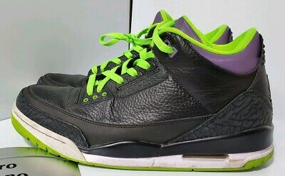 various colors 29402 81fce NIKE - AIR Jordan Retro 3 - ( JOKER ) - (Green/Black ...