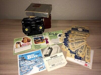 Vintage Sawyer's View-Master Stereoscope w. 17 Reels (Kodachrome Viewmaster)