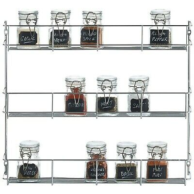 3Tier Steel-Wire 17.5/'/'H Screw DecoBros Spice Rack Anchor Wall-Mounted Bronze