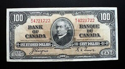 1937 BANK OF CANADA $100 Dollars  **Coyne & Towers**  B/J 4221722  BC-27c