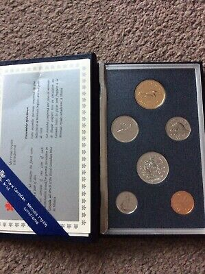 Canadian Mint 1991 Specimen/ Proof Coin Set. Uncirculated Sealed.