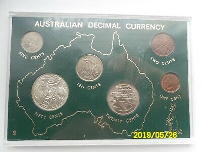 Australian Decimal Currency Set 1966 - Includes Silver 50 Cents