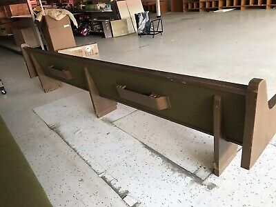 """USED""  14' CHURCH PEWS WITH Book Pocket- PICKUP ONLY!"