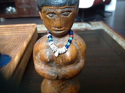 Amazing Hand Carved/Wooden Feedish/Doll/Figure Brazilian Amazon Must See Wow