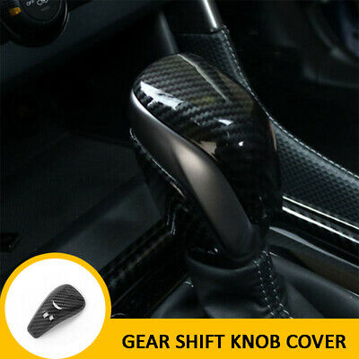 2pcs Carbon fiber ABS Gear Shift Knob Cover Cap Trim for Subaru Forester 2019