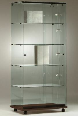 ALL GLASS RETAIL SHOP TOWER JEWELLERY GLASS DISPLAY SHOWCASES. CABINET 80w cm