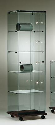 ALL GLASS RETAIL SHOP TOWER JEWELLERY GLASS DISPLAY SHOWCASES. CABINET 48w cm