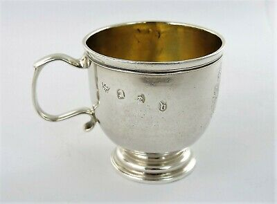 Extremely rare GEORGE I Britannia SILVER DRAM CUP, London 1715 Wm Fleming WHISKY